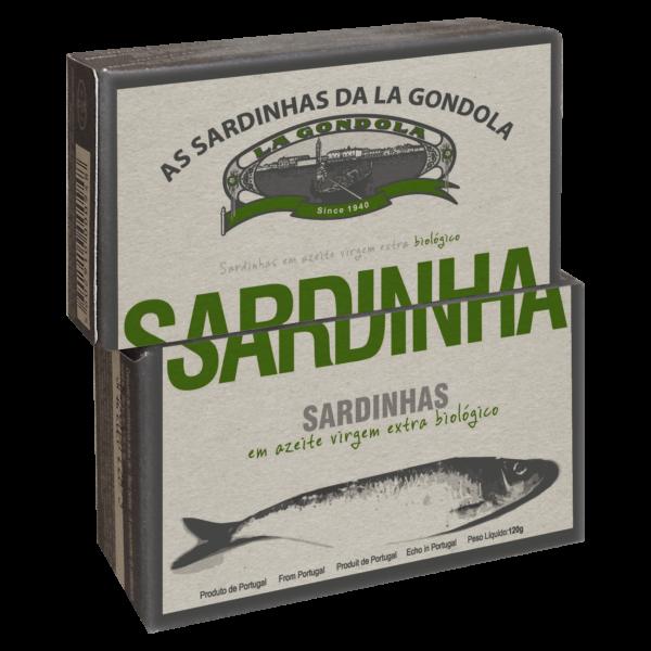 La Gondola, Sardiner i olivenolie BIO – 120 g.